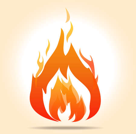 vector flame, fire symbol burning -  vector illustration EPS10