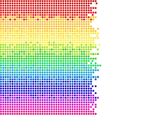 lighting technique: colored dots on white background, bright mosaic pixels, vector illustration - you can change the background color and the color of dots