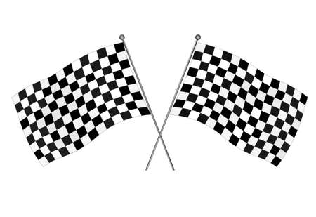 racing: Checkered flags, motocross racing flag - vector illustration