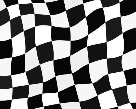 チェッカーフラッグの背景、レースのフラグ - ベクトル図  イラスト・ベクター素材