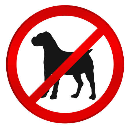 No dog sign. Stop, not dogs. No crossing with dogs -  vector illustration well layered, fully editable, you can change form and color