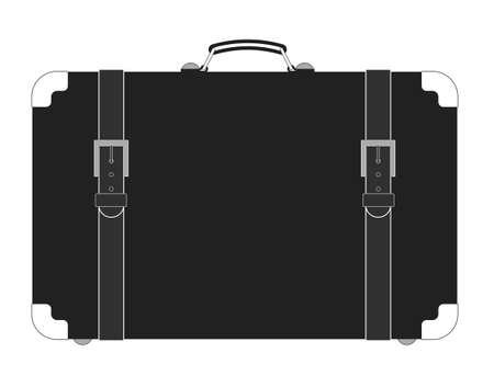 antiquities: suitcase vector illustration, fully editable, you can change form and color