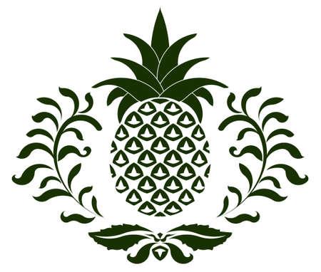 ananas pictogram, symbool van de gastvrijheid - vector afbeelding kunt u de kleur en vorm veranderen