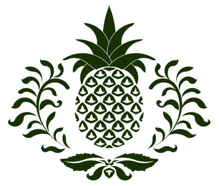 pineapple: pineapple icon, symbol of hospitality - vector illustration you can change color and shapes