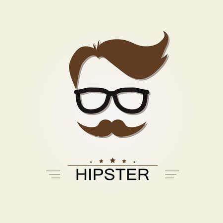 wayfarer: hipster icon. avatar. retro style - vector element, vintage design template.