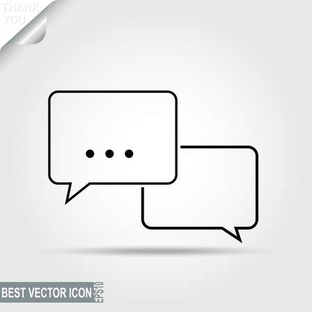 discussion: Dialogue, Message Pictograph, Chat icon, Speech bubbles, Discussion - vector illustration, you can change form and color
