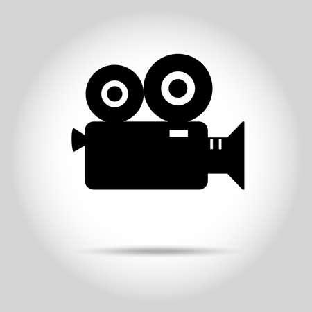 shoot: Video camera icon, Movie Camera, Cinema icon, Film  production, Media. Flat design style. Vector illustration Illustration