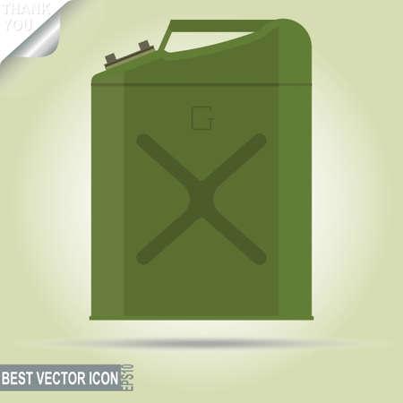 gallon: Gasoline jerry can, 5 gallon - vector illustration Illustration