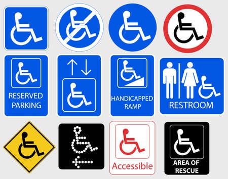 Handicap Sign, Invalid information Symbol Graphic - vector illustration Vectores