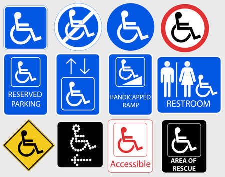 Handicap Sign, Invalid information Symbol Graphic - vector illustration Vettoriali