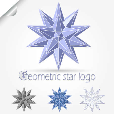 star logo: Geometric star logo. Abstract shape, Business symbol. Creative infinity design. Vector template concept Illustration