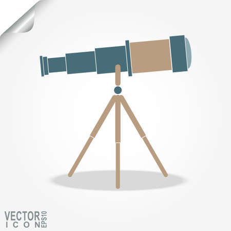eyepiece: Telescope icon, space exploration, search ideas, finding a new vision, business concept,  - vector illustration Illustration