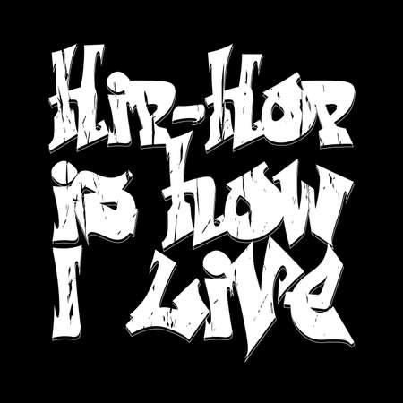 hip hop dancing: Hip-hop style emblem, T-shirt Design.  Typography fashion design. Graphic Print label - vector illustration