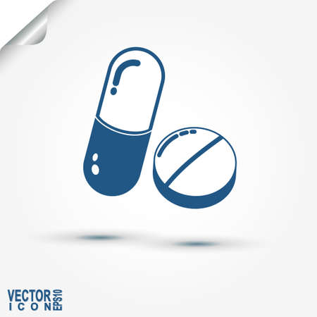 medicament: Capsule and Pill, Medicine Tablet icon, healthcare, drugs, medicament - vector illustration
