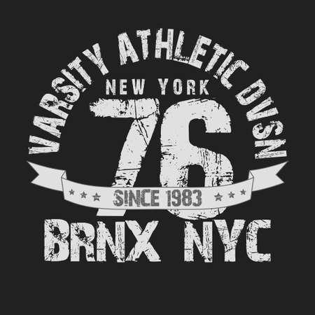 bronx: New York City Typography Graphics, T-shirt Printing Design NYC original wear, Vintage Print for sportswear apparel