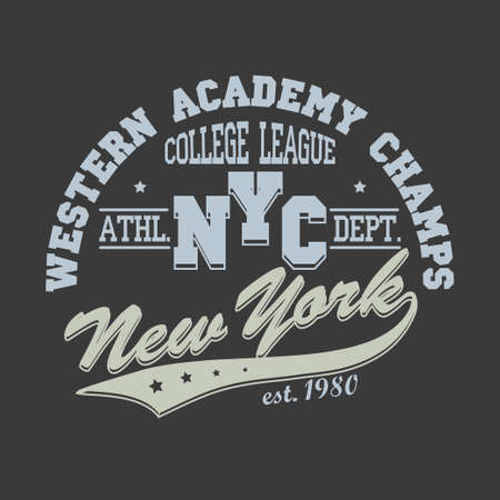 bronx: New York City Typography Graphics, T-shirt Printing Design, NYC original wear, Vintage Print for sportswear apparel - vector illustration