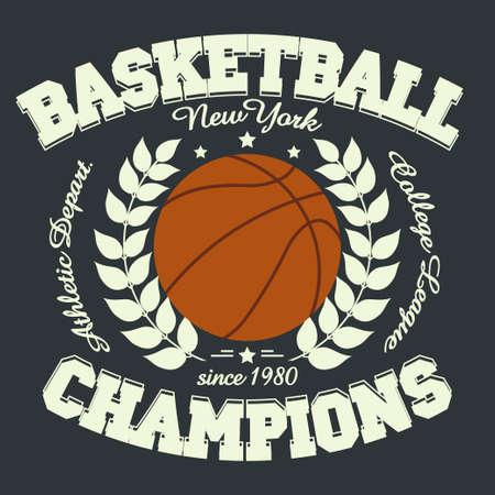 apparel: Basketball Sport Fashion Typography Graphics. New York T-shirt Design.