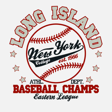 Baseball Fashion Typography Graphics. New York Sport T-shirt Design.