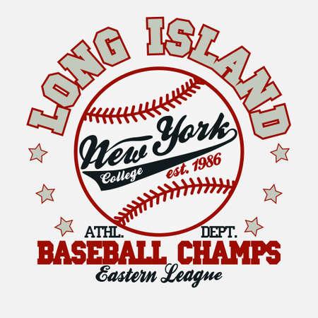 Baseball Fashion Typography Graphics. New York Sport T-shirt Design.