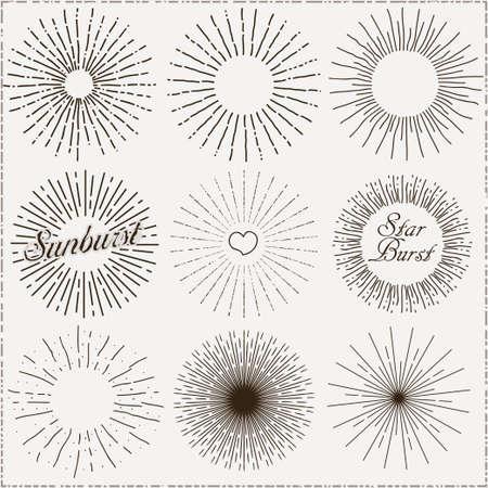 Sunburst Hand-Drawn Shapes