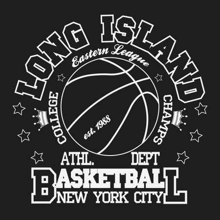 Basketball Sport Fashion Typography Graphics. New York T-shirt Design. Vector 일러스트