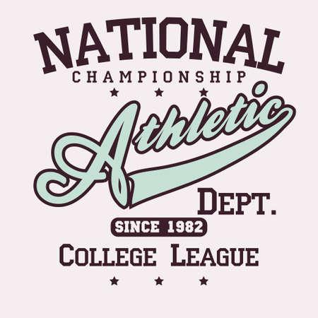 Fashion Typography Graphics. Sport T-shirt Design. Vector 일러스트