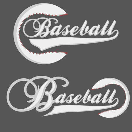 outfield: Baseball Logotype - graphics for t-shirt