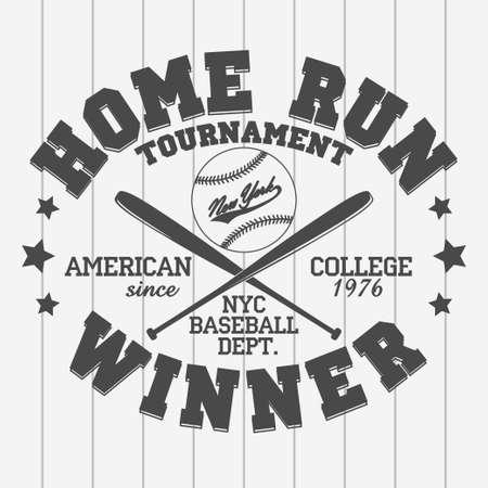 Baseball emblem - graphics for t-shirt Illustration