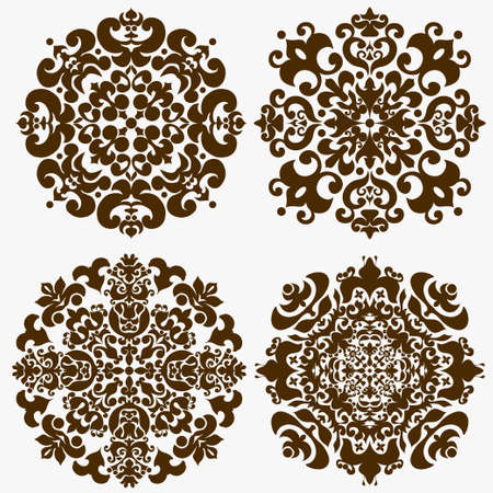 mandala tattoo: Round geometric Ornamental pattern. Mandala decor. Victorian style vintage  ethnic decorative elements for design