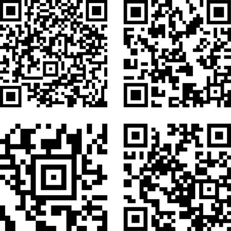 qrcode: Square digital barcode, qr code identification price. Vector
