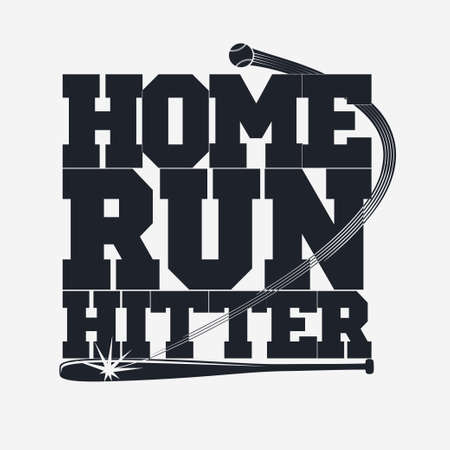 outfield: Baseball emblem - graphics for t-shirt, Vector Lettering sport sign