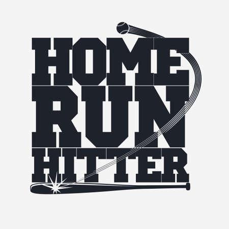 softball player: Baseball emblem - graphics for t-shirt, Vector Lettering sport sign