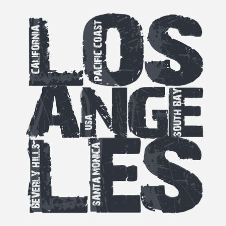Los Angeles City Typography Graphics, California T-shirt design. vector illustration Ilustracja