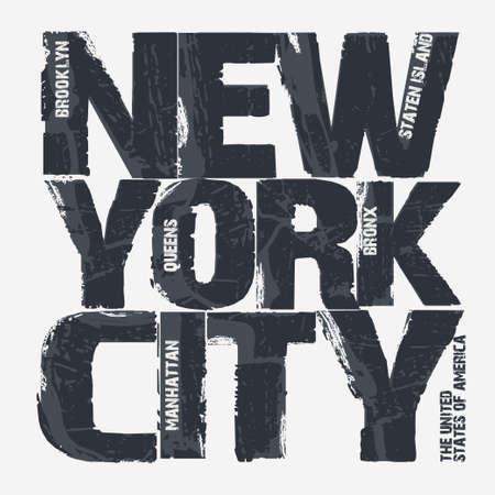 ニューヨーク市のタイポグラフィ グラフィック、ブルックリン t シャツ デザイン。ベクトル図