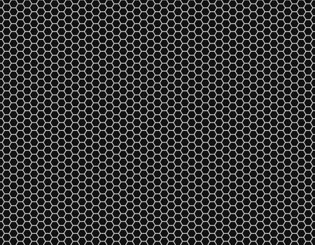 Grid seamless background. Hexagonal cell texture -  Honeycomb - Speaker grille. Vector