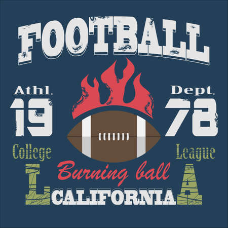 college football: California Sport Typography,College Football Athletic Dept. T-shirt fashion design graphics, Vintage Print for sportswear apparel Stock Photo