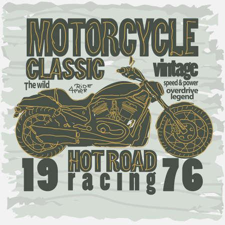 motobike: Motorcycle Racing Graphics. Motobike T-shirt Design