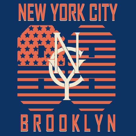 brooklyn: New York City Sport Typography Graphics Label. T-shirt Printing Design, Brooklyn original wear