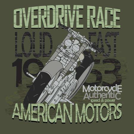 motobike: Motorcycle Racing Graphics. Racing motobike T-shirt Design