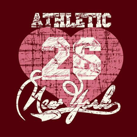 bronx: New York City Typography Graphics, girls T-shirt grunge design Stock Photo