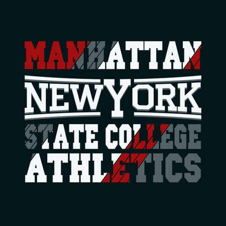 bronx: New York City Typography Graphics, Manhattan T-shirt Printing Design, USA original wear, Print for sportswear apparel - illustration