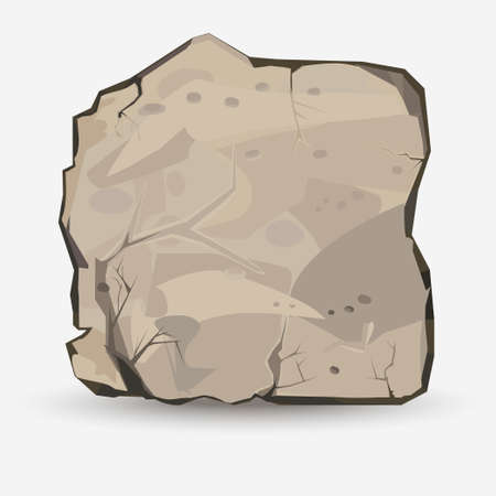 drawing large: Rock stone in style. Big boulder. Mineral background. Vector