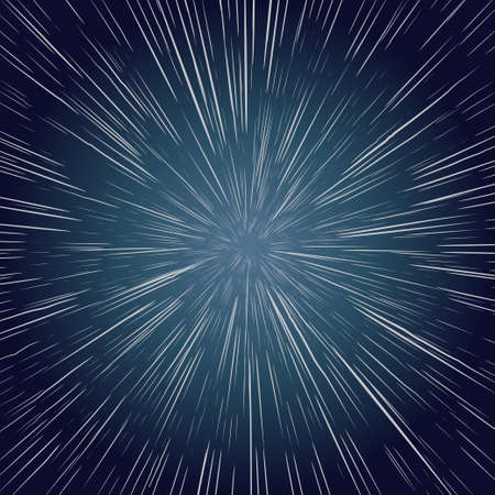 Warp Stars. zooming through space, Explosion Ray Galaxy. Abstract Background