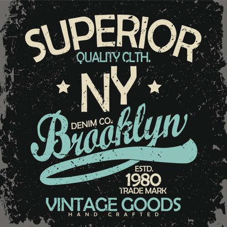 mezclilla: tipografía de mezclilla, gráficos de la camiseta, desgaste de la vendimia diseño de la camiseta de impresión Vectores