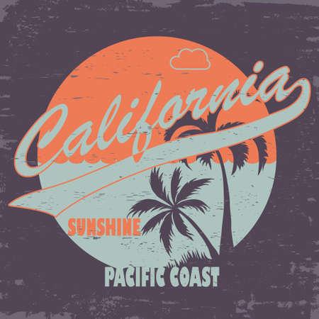 sports wear: T-shirt stamp graphic design. California sports wear, artwork  typography emblem. Creative design. Vector