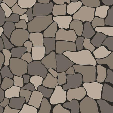 Stenen muur naadloze structuur, Stonewall achtergrond, bakstenen muur natuur patten Vector Illustratie