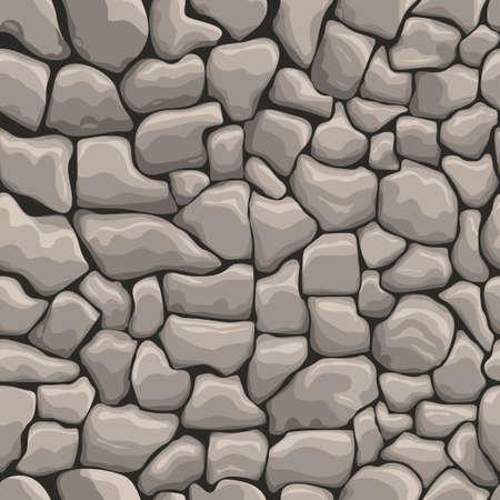 Stone wall seamless texture, stonewall background, brick wall nature patten Illustration
