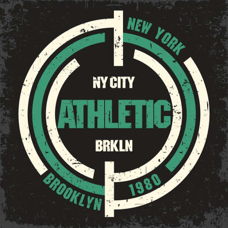 brooklyn: New York Brooklyn Sport wear typography emblem, t-shirt stamp graphics, vintage tee print, athletic apparel design