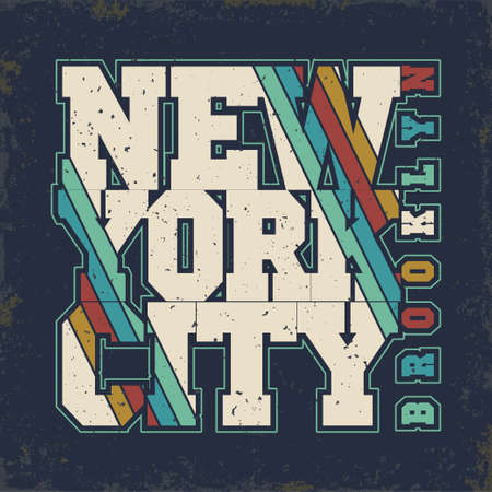brooklyn: New York Brooklyn Sport wear typography emblem, Denim t-shirt stamp graphics, vintage tee print, athletic apparel design