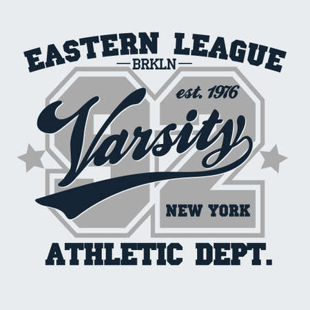sport clothes: New York Brooklyn Sport wear typography emblem, t-shirt stamp graphics, vintage tee print, athletic apparel design fashion clothes.